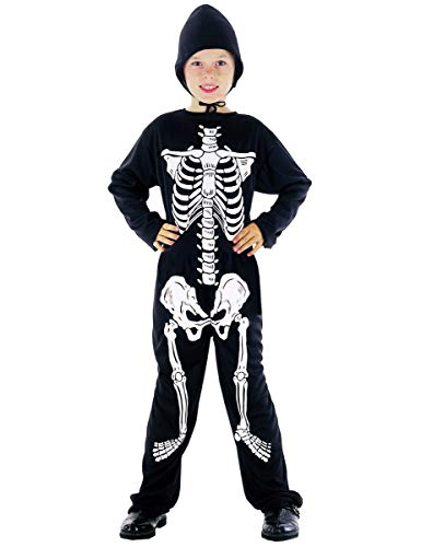 DEGUISE TOI Déguisement Squelette garçon Halloween - M 7-9 Ans (120-130 cm)