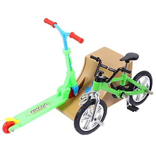 BESPORTBLE Mini Juego de Juguetes con Rampas Mini Scooter de Dedo Rampas Set de Diapasón Bicicletas de Dedo Diminutos Movimiento del Dedo Favores del Partido Regalo