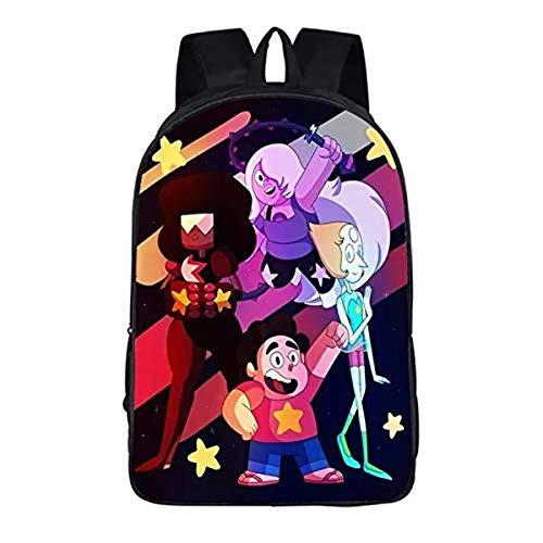 Steven-Universe - Mochila escolar para niños, reduce la carga, ajustable, ergonómica, Steven14 (Negro) - D-2E4F2