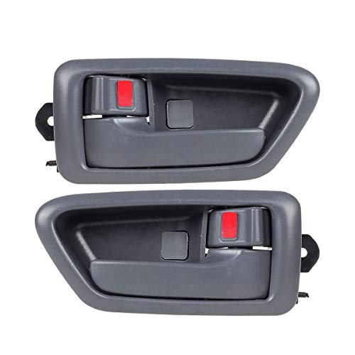 2 Pcs Gray Interior Front/Rear Left Right Side Door Handle Driver Passenger Side Compatible with Camry 1997-2001 91002 91006 91003 91007