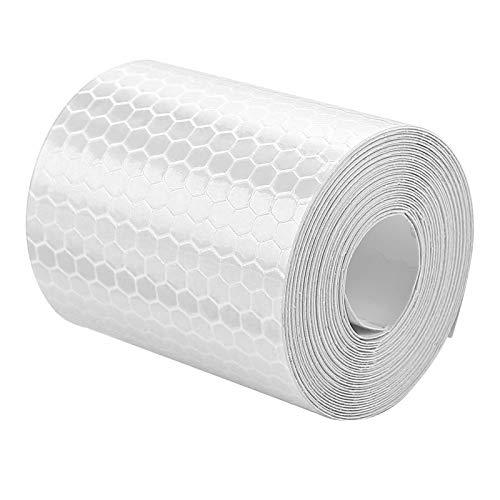 Adhesivo de seguridad práctico y duradero, ideal para bicicletas, camiones, remolques, botes para remolques, autos, bicicletas para conductores,(Silver)