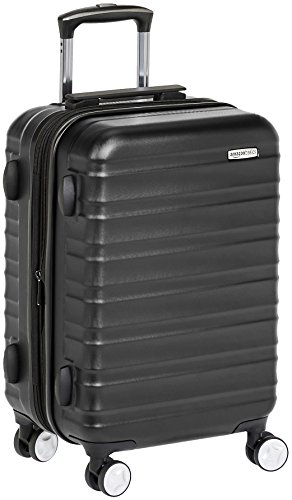 AmazonBasics Premium Hardside Spinner Luggage with Built-In TSA Lock - 21-Inch Carry-on, Black