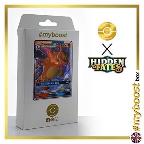 Charizard-GX (Dracaufeu-GX) SM211 - #myboost X Sun & Moon 11.5 Hidden Fates - Coffret de 10 Cartes Pokemon Aglaises
