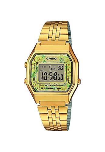 Casio Reloj Digital para Mujer de Cuarzo con Correa en Acero Inoxidable LA680WEGA-9CEF