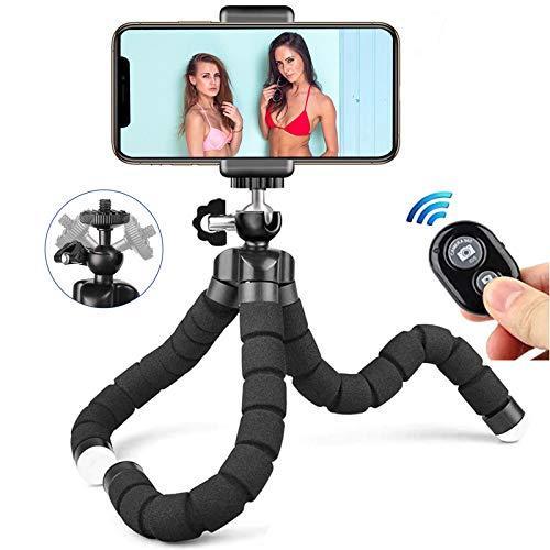 Treppiede per cellulare, treppiede portatile compatibile con telecomando Bluetooth, treppiede per mini smartphone rotante a 360 °, adatto per iPhone / Octopu / Galaxy / Honor / Xperia / Redmi