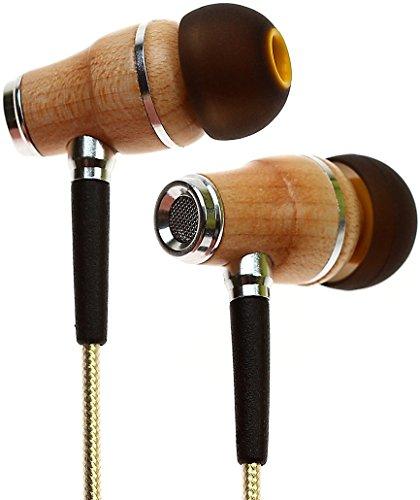 JOVERS Earbud Headphones - Noise Cancelling Premium Stereo Headphone Earbuds w/Mic, Ergonomic fit for Men & Women, Black