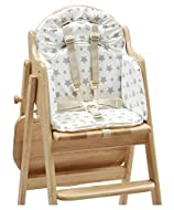 Soft foam filling Harness holes in backrest Wipe clean Phthalate free PVC Note: Item is just Highchair Insert and it does not include chair