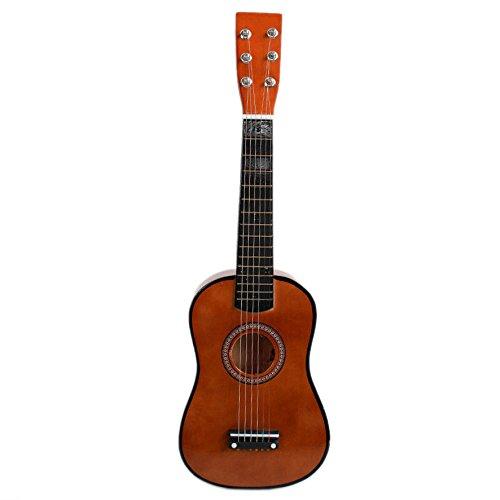 Naturra 23' Guitarra Guitarra Juguete Musical de ninos de Tilo Instrumento de Cuerdas acustica con plectro 1A Cuerda Cafe