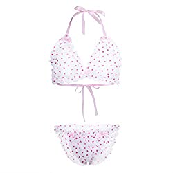 girlie bra and panty set designed for men with heart pattern