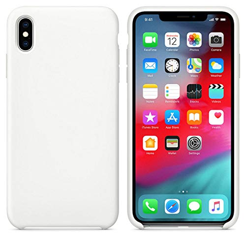 JLFDHR Funda de Silicona Oficial Original para Apple iPhone 7 8 6 6s Plus 5 5s SE Funda para iPhone 6 7 X XS MAX XR Funda de teléfono sin Logo-para iPhone 5 5s SE-Blanco