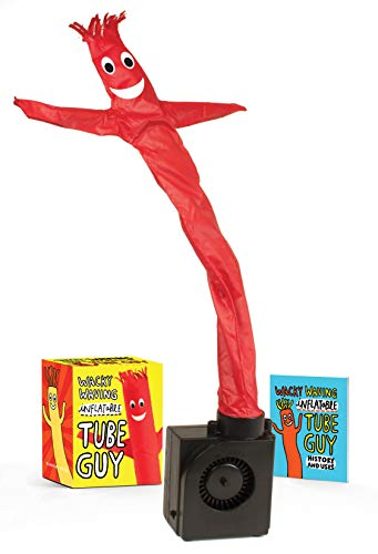 Wacky Waving Inflatable Tube Guy (Miniature Editions) You've seen him at your local car dealership and car wash-now, bring a wacky inflatable tube guy to your office and let the laughs abound Kit includes: * An 18-inch waving tube man with fan in bas...