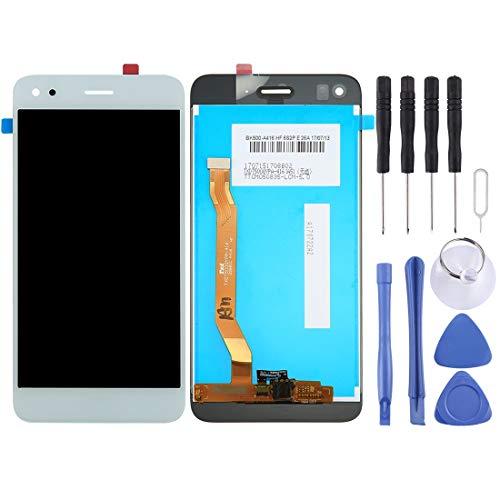 GHFPCASE para Huawei Enjoy 7 / Y6 Pro 2017 / P9 Lite Mini Pantalla LCD y digitalizador asamblea Completa (Negro) (Color : Blanco)