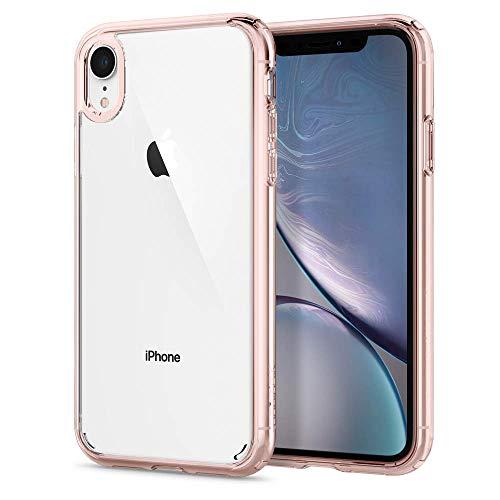 Spigen Ultra Hybrid, Kompatibel mit iPhone XR Hülle, 064CS24875 Einteilige Transparent PC Rückschale Handyhülle Schutzhülle Case (Rose Crystal)