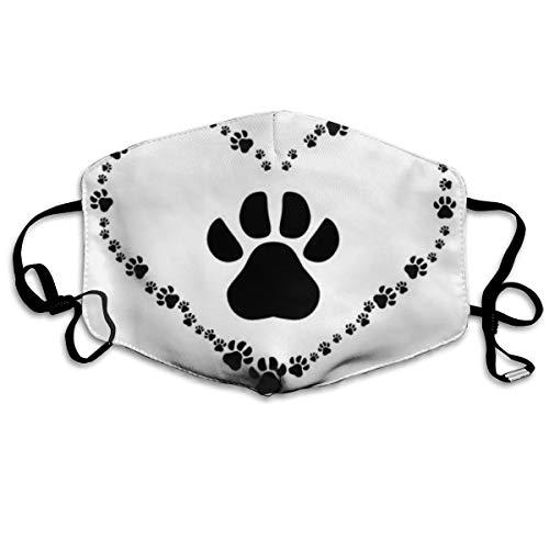 Dog Paws Prints Heart Mask Mouth Mask Neck Gaiter Mask Bandana Balaclava Easter St. Patrick's Day