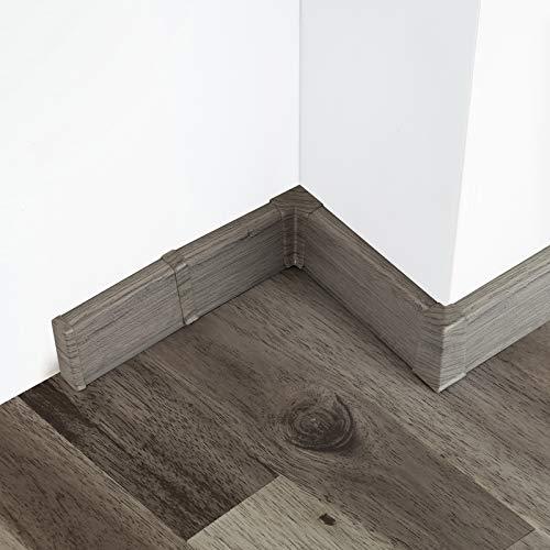 [DQ-PP] Verbinder 55mm PVC millennium Dunkel Laminatleisten Fussleisten aus Kunststoff PVC Laminat Dekore Fußleisten