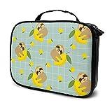Multi-Purpose Cosmetic Train Case Lazy Zipper Clutch Bag Large Capacity Sloth Lemon
