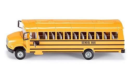 SIKU 3731, US-Schulbus, 1:55, Metall/Kunststoff, Gelb, Öffenbare Türen