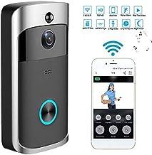 Alician Wireless WiFi DoorBell Smart Video Phone Door Visual Ring Intercom Secure Camera Gray