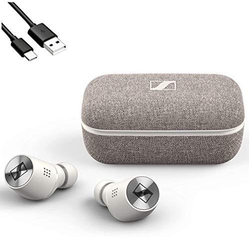 Sennheiser(ゼンハイザー) / MOMENTUM True Wireless 2 Bluetooth対応 完全ワイヤレスイヤホン ノイズキャンセリング + 0.5m Cタイプ 予備充電ケーブル セット … (WHITE) [並行輸入品]