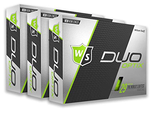 PlayBetter Wilson Staff Duo Optix Matte Bright-Colored Golf Balls | Multi-Packs (Two Dozen, Lectric Lime Green)
