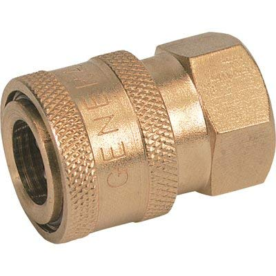 NorthStar Brass Pressure Washer Quick Coupler - 1/4in. NPT-F, 5200 PSI, 6.0 GPM, Brass, Model Number ND10001P