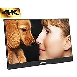 4K Moniteur Portable Noir 13,3 Pouces FHD Moniteur LCD 3200 x 1800 IPS avec entrée...