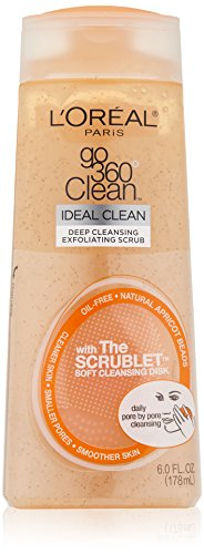 L'Oreal Paris Go 360 Clean, Deep Cleansing Exfoliating Facial Scrub, 6.0 Ounce