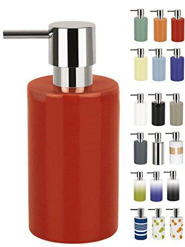Spirella - Dispenser per Sapone a Tubo, in Porcellana Dura, Colore: Rosso