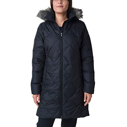 Columbia Icy Heights II Mittellange Daunenjacke für Damen, Black, S