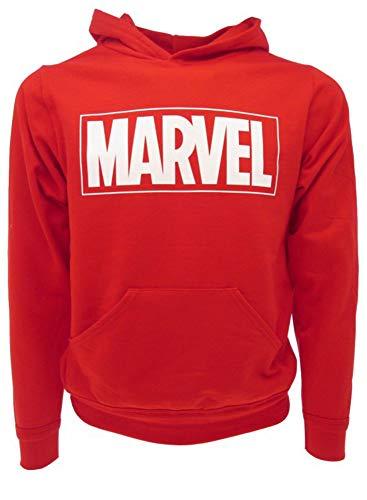 Marvel - Sudadera original con logotipo de la marca Marvel, con capucha, para hombre y adulto, rojo, M