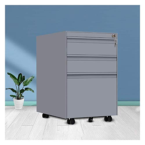 Mappen, metaal, kantoorkast, met 3-laags slot, opbergdoos van metaal, kantoorbenodigdheden voor familie, studeerkamer, kantoor enz.