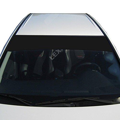 LEXEN Sun Strip Visor Premium Vinyl Decal Windshield Uncut 60'X12' (Matte Black)