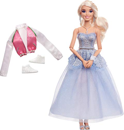 "Zombies Disney's 2, Addison Prom Doll (11.5-inch) Wearing Blue Gown and Accessories (6 Piece Count), 11 Bendable ""Joints,"" Great Gift for Ages 5+"