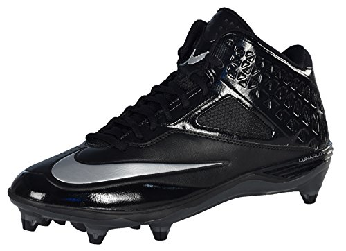 NIKE Men's Nike Code Pro 3/4 Detachable WIDE Football Cleat Black/Silver