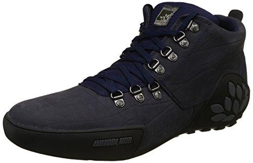 Woodland Men's Navy Leather Sneakers - (11 UK)