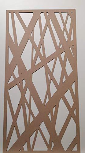LaserKris TR1 Dekoratives Kühlergrill Perforierte MDF-Platte 4 x 2 cm