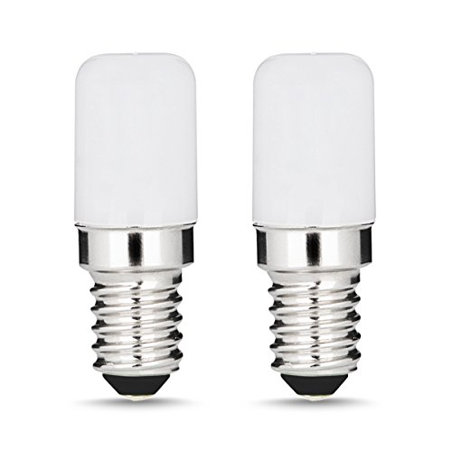LOHAS E14 LED Kühlschranklampe, 1,5W = 15W, Warmweiß 2700K, 135 Lumen, 360 Grad Abstrahlwinkel, LED Lampen, LED Kühlschrankbirne, LED Leuchtmittel, 220-240V AC, Nicht Dimmbar, 2er Pack