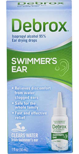 Debrox Swimmer's Ear Relief Ear Drying Drops | Water Clogged Ear Relief | 1.0 FL OZ