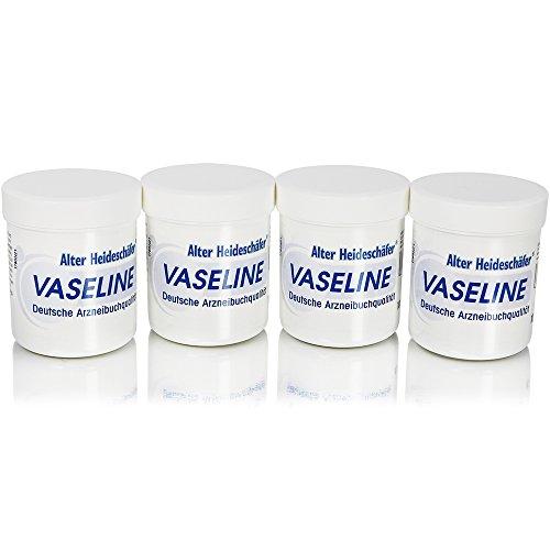 com-four® 4er Set weiße Vaseline 4X 100ml - Schützt Ihre Haut und Macht sie geschmeidig