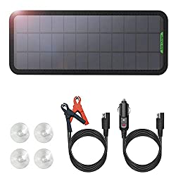 GIARIDE 12V 7.5W Solar Car Battery Charger Eco-Worthy Portable Battery Charger SunPower Solar Panel Backup for Auto-Boat RV Tractor Motorcycle Car and Batteries