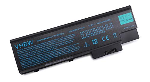 vhbw Li-ION Batterie 4400mAh (14.8V) pour Ordinateur Portable, Notebook Acer Aspire 1685WLCi, 1689, 1690, 1690-II, 1690LMi, 1691 comme SQU-401.