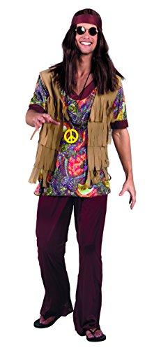 Boland-Hippie Figlio dei Fiori Willow Man Costume Adulto, Marrone, L (54/56), 83591