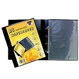 ARK Carpeta A3 Deluxe Portrait 4-D con anillas para archivos, cartera de presentación negra + 10 fundas, 36318