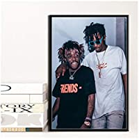 Dubdubd Playboi Carti&Lil Uzi Vert Hip Hop Rap Singer Poster Canvas Painting Art Pictures Home Decor Gift Print On Canvas-50X70Cm No Frame