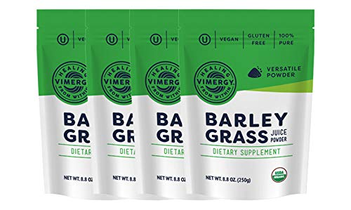 Vimergy USDA Organic Barleygrass Juice Powder (250g) X 4 Bags