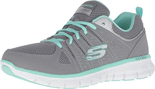 Skechers Sport Women's Synergy Look Book Fashion Sneaker, Gray Mint, 10 Wide