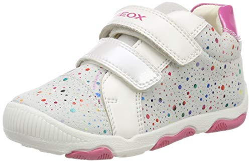 Geox Baby Mädchen B New BALU' Girl A Sneaker, Mehrfarbig (White/Multicolor C0653), 24 EU
