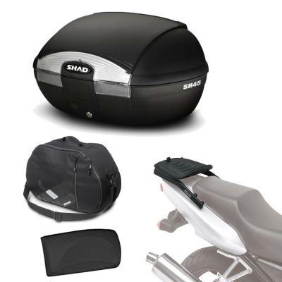 Sh45borehe5 - Kit fijacion y Maleta baul Trasero + Respaldo + Bolsa Interna Regalo sh45 Compatible...