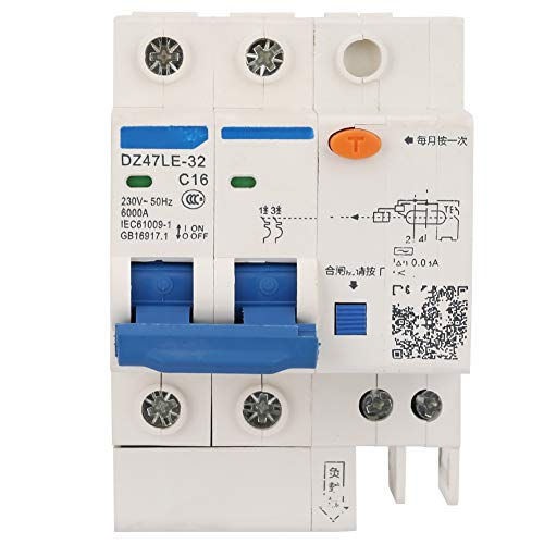 Disyuntor de corriente residual 16A interruptor de aire RCCB 230V 30mA 2P + 2 eléctrico para decoración del hogar
