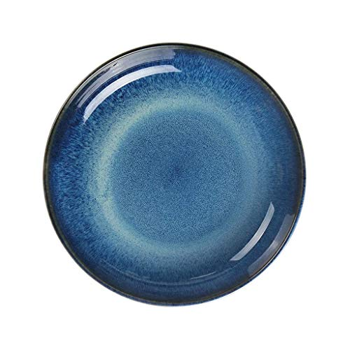 XZJJZ Haushalt Dessert Fayence Stück Geschirr Premium-Keramik, Bunte Mahlzeit Abendessen Teller (Size : 20.5 * 4CM)
